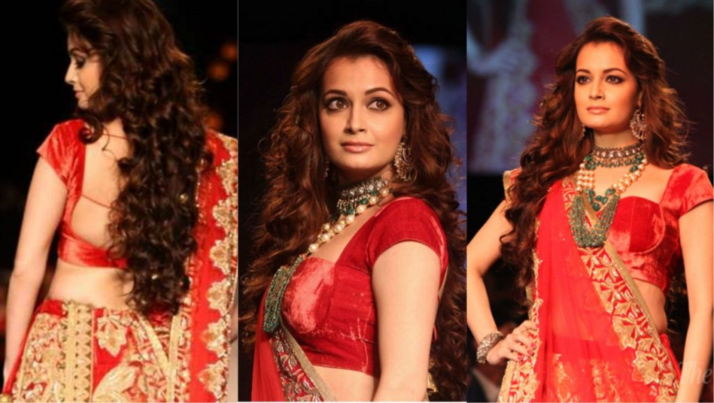 Red Sabyasachi Blouse With Heavy Embellishment And Sequin Work
